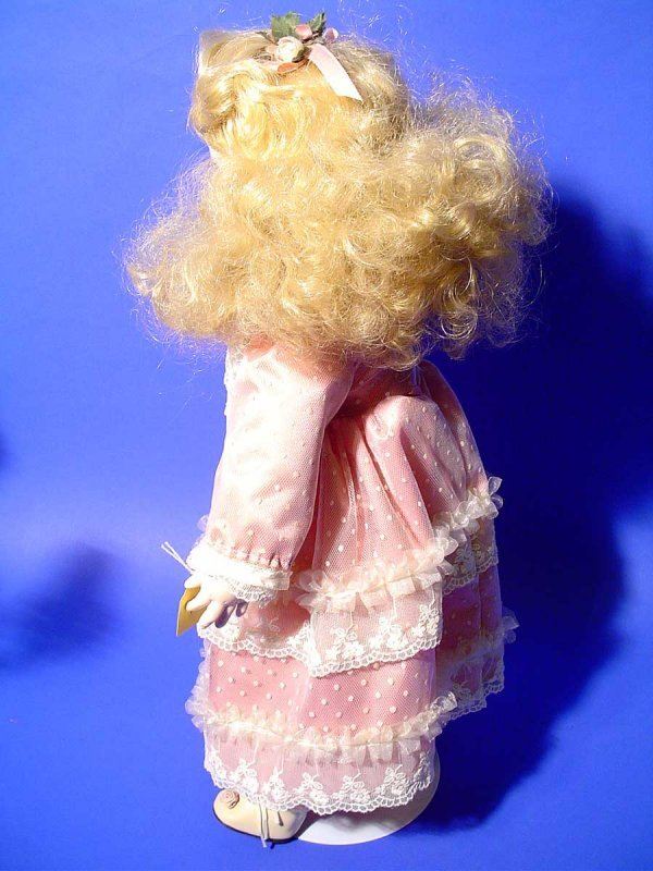 428B: PORCELAIN DOLL, by Seymour Mann, numbered 383,  m - 3
