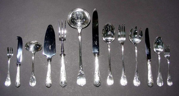 508: EXTENSIVE AND FINE 156-PIECE CHRISTOFLE SILVERPLAT