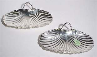 PAIR OF SILVERPLATED CANDY DISHES