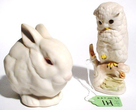 1H: LOT OF TWO CYBIS DECORATED PORCELAIN ANIMALS,