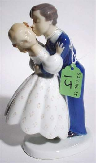 DECORATED PORCELAIN FIGURAL GROUP