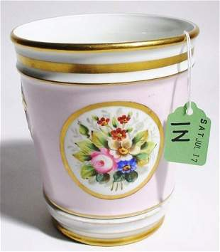 CONTINENTAL STYLE FLORAL DECORATED CERAMIC CACHE' P