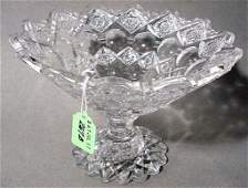 267B: AMERICAN BRILLIANT PERIOD CUT GLASS COMPOTE