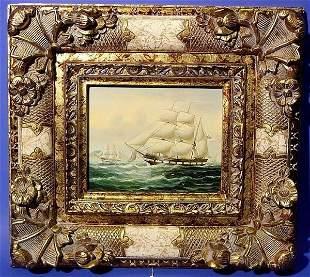 EUROPEAN 21ST CENTURY, framed oil on canvas, ''Sh