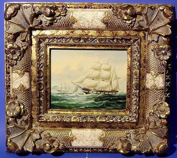 1011: EUROPEAN 21ST CENTURY, framed oil on canvas, ''Sh