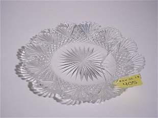 AMERICAN BRILLIANT PERIOD CUT GLASS CIRCULAR DISH