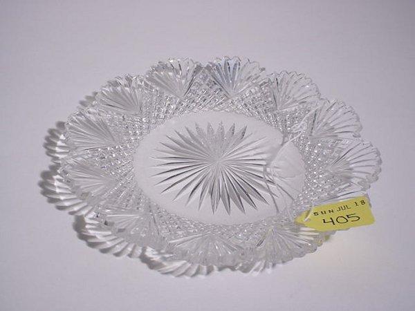 405: AMERICAN BRILLIANT PERIOD CUT GLASS CIRCULAR DISH