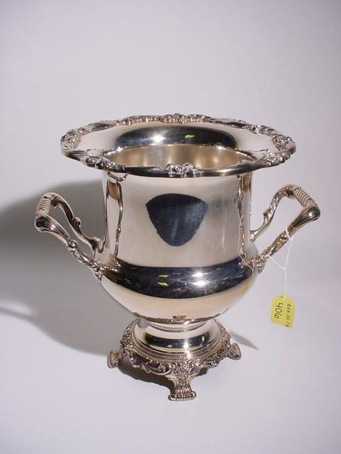 406: SILVERPLATED PEDESTAL DESIGN FOOTED CHAMPAGNE COOL