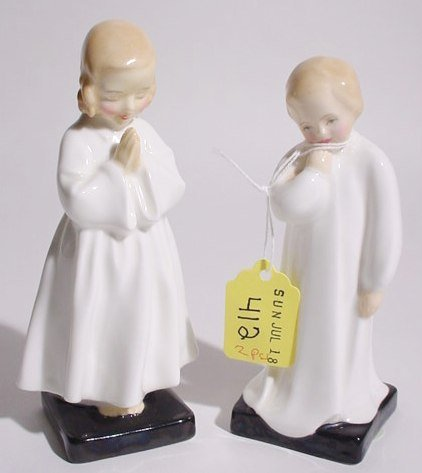 412: LOT OF TWO ROYAL DOULTON FIGURES