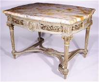 623: EXTREMELY FINE LOUIS XVI STYLE DECORATED MARBLE TO