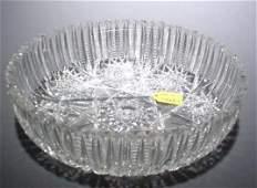 668A: AMERICAN BRILLIANT PERIOD CUT GLASS CIRCULAR BOWL