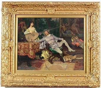 552: FRANCESCO VINEA (Italian, 1845-1902); oil on wood