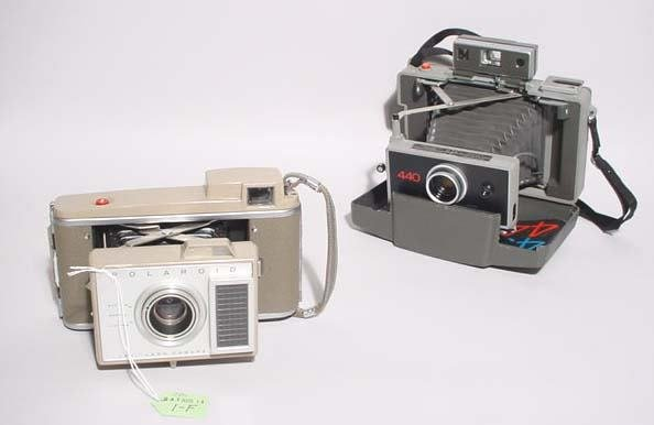 1F: LOT OF TWO EARLY POLAROID LAND CAMERAS