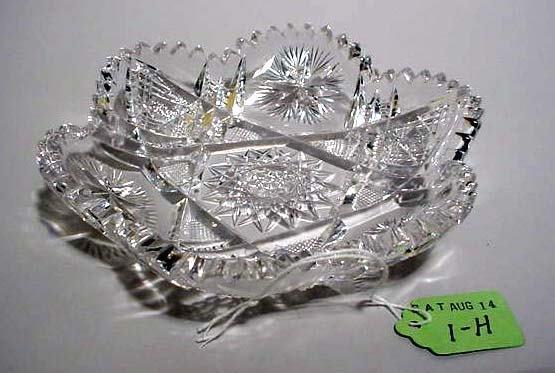 1H: AMERICAN BRILLIANT PERIOD CUT GLASS ICE CREAM DISH