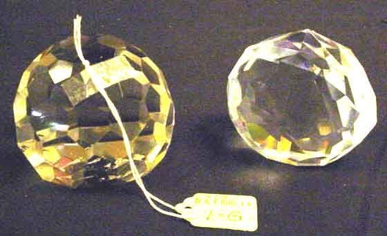 1G: COMPANION PAIR OF GLASS PAPERWEIGHTS