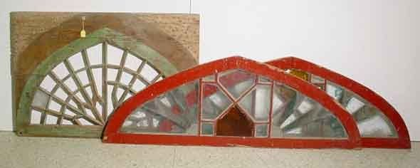 401K: LOT OF THREE DECORATED ARCHED WINDOW FRAMES