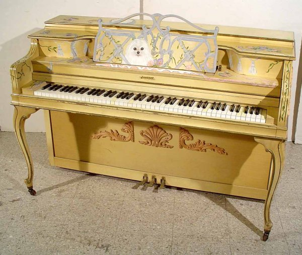 47: DECORATED AND PAINTED LOUIS XV STYLE JANSSEN SPINET
