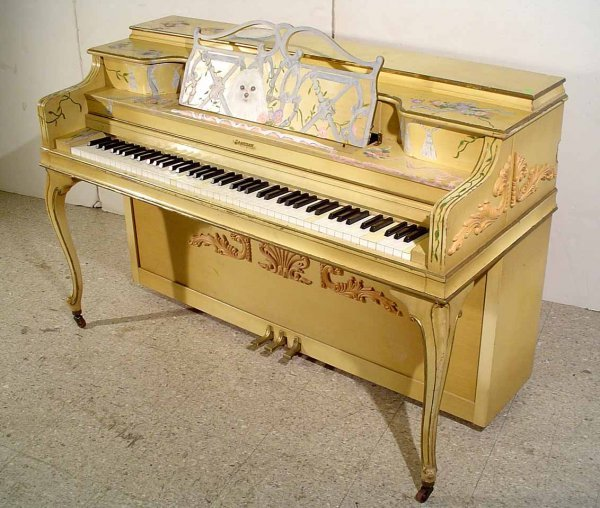 47: DECORATED AND PAINTED LOUIS XV STYLE JANSSEN SPINET - 2