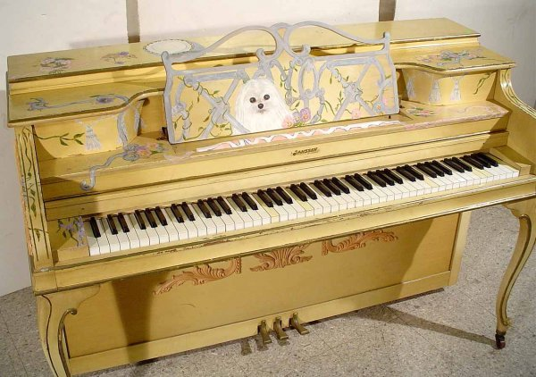 47: DECORATED AND PAINTED LOUIS XV STYLE JANSSEN SPINET - 3