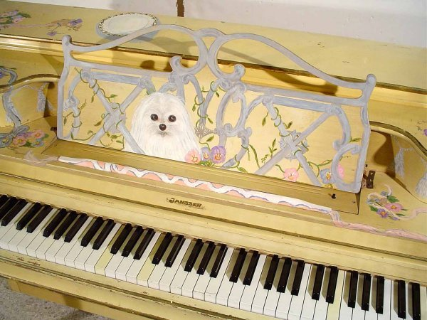 47: DECORATED AND PAINTED LOUIS XV STYLE JANSSEN SPINET - 5