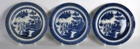 A SET OF THREE EARLY 19TH CENTURY ENGLISH BLUE AND