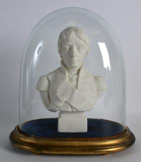 A ROBINSON & LEADBEATER ANTIQUE PARIAN BUST OF LORD