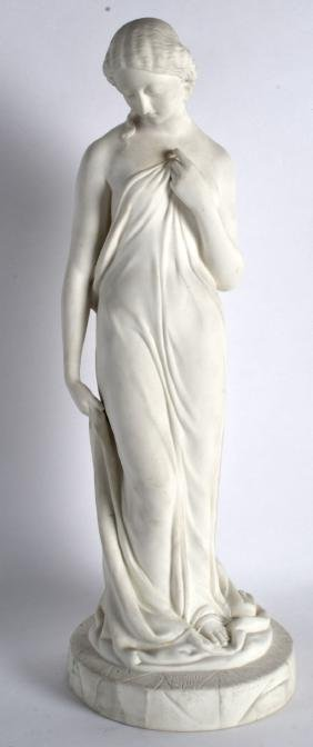 A 19TH CENTURY ENGLISH PARIAN WARE FIGURE OF A