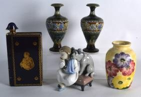 A PAIR OF LATE 19TH CENTURY DOULTON STONEWARE VASES by