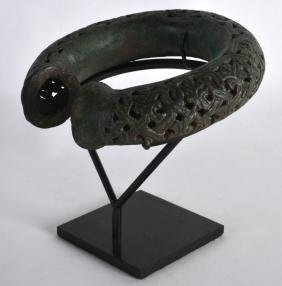 A Good Persian Geometric Open Work Bracelet,