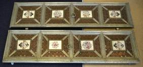 A GOOD PAIR OF 19TH CENTURY INDIAN METAL DOOR PANELS