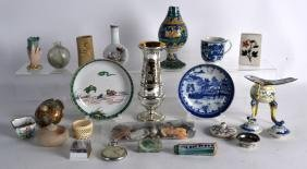 A GROUP OF MISC ITEMS including a Canton Qianlong
