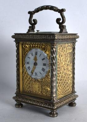 A FINE LATE 19TH CENTURY FRENCH REPEATER CARRIAGE CLOCK