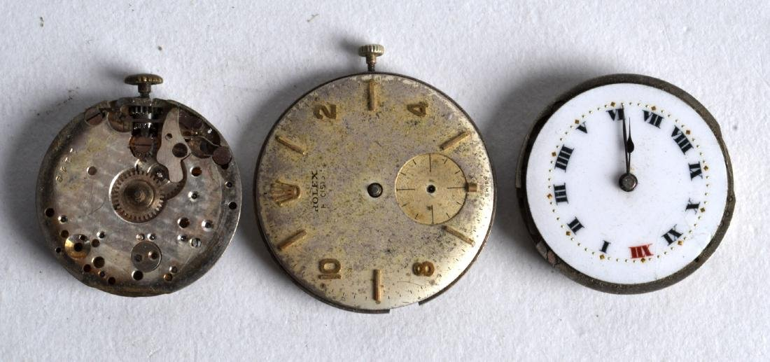THREE VINTAGE ROLEX WATCH DIALS. (3)