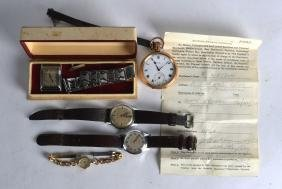 A VINTAGE BENSON GENTLEMANS WRIST WATCH together with a