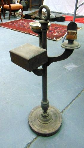 AN ANTIQUE WOODEN SMOKERS COMPENDIUM. 2 ft 3ins high.