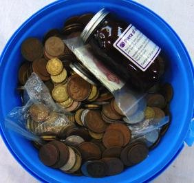 A QUANTITY OF COINS, together with a few bank notes.