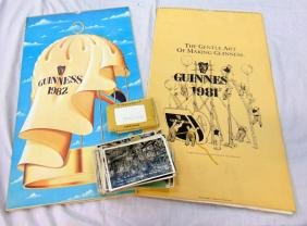 TWO VINTAGE GUINESS CALENDERS, together with a quantity