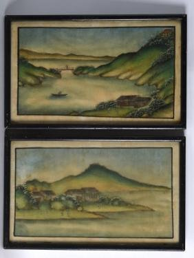 CHINESE SCHOOL (Early 20th Century), A Framed Pair of