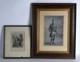 AN EARLY FRAMED PHOTOGRAPH,  depicting a gentleman in a