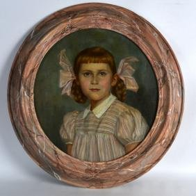 English School (C1910) Framed oil on canvas, 'Pink