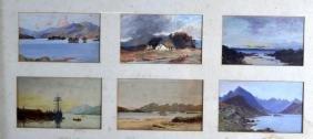 SCOTTISH SCHOOL, Framed set of six small watercolours,