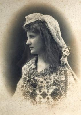 """A FRAMED PHOTOGRAPH, """"Frau Baumstein"""", together with a"""