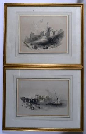 DAVID ROBERTS (British), A Framed Pair of Prints,