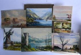 A QUANTITY OF WATERCOLOURS, by a variety of artists.