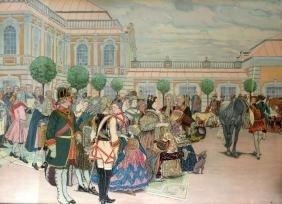 DIMITRY KARDOVSKY (1866-1943),  Framed Russian