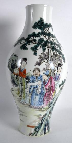 A GOOD CHINESE REPUBLICAN PERIOD BALUSTER PORCELAIN