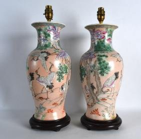 A PAIR OF CHINESE PORCELAIN VASES 20th Century,