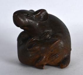 A GOOD 19TH CENTURY JAPANESE MEIJI PERIOD CARVED