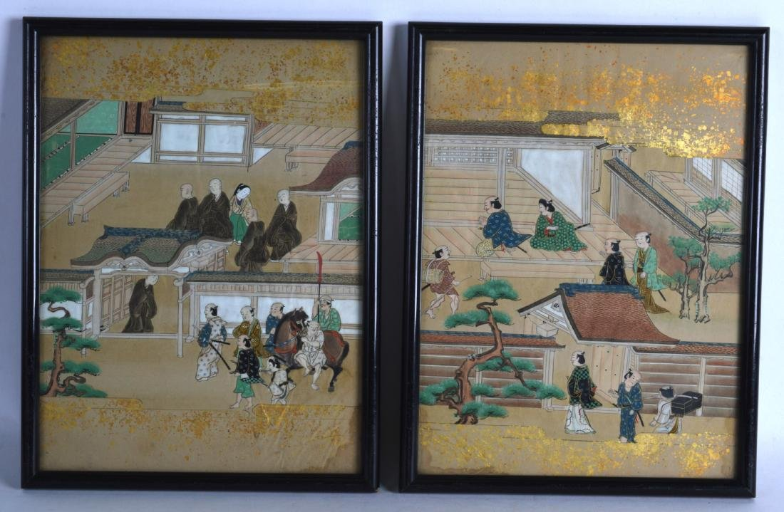 A SET OF FOUR FRAMED LATE 19TH/20TH CENTURY CHINESE