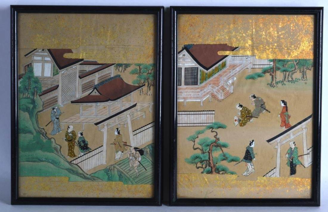 A SET OF FOUR FRAMED LATE 19TH/20TH CENTURY CHINESE - 2